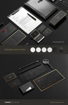 Premium Stationery Mock-Up by Mockup Cloud on @creativemarket