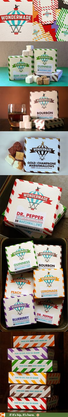 The wonderful and whimsical packaging for Wondermade marshmallows by The Heads Of State.