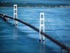 Mackinac Bridge - 5 miles long.  www.GardianAngelLLC.com
