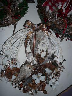 white wood wreath