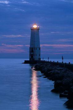 Frankfort Pier Lighthouse - Frankfort, Michigan.