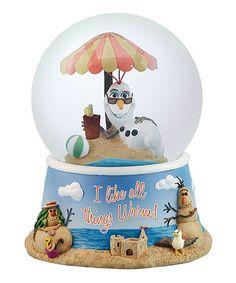 'I Like All Things Warm' Frozen Snow Globe #zulily #zulilyfinds