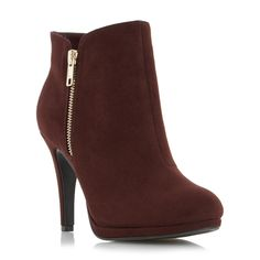 ROBERTO VIANNI LADIES OPIA - Side Detail Dressy Ankle Boot - burgundy | Dune Shoes Online