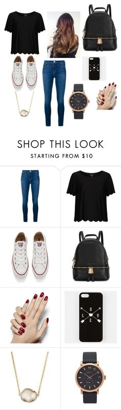"""School day"" by karissaibrahim14 ❤ liked on Polyvore featuring Frame, Topshop, Converse, Michael Kors, Jules Smith and Marc Jacobs"