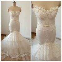 sara bridal wedding dress inbal dror fishtail lace sleeveless ...