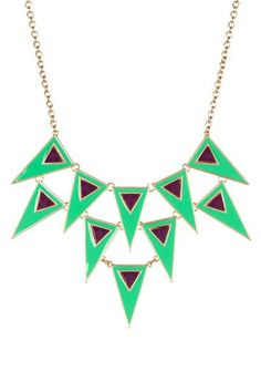 Green Festival Necklace by Meghan Fabulous.  To wear with pearls $19.00