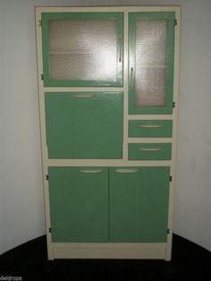 Vintage Retro 1950's / 60's Kitchen Larder Cabinet Cupboard with ...