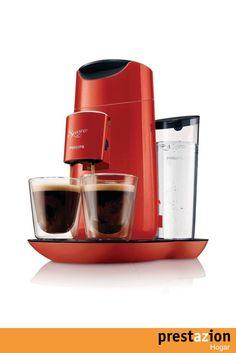 philips hd7870 81 senseo twist cafetera de monodosis (comandos tactiles intensidad regulable) color rojo