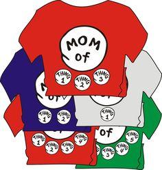 DR SEUSS MOM of thing 1 2 3 4 ETC DAD GRANDPA GRANDMA of T SHIRT ALL SIZES #GILDANHANES #BasicTee