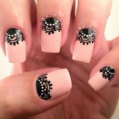 60 Lace Nail Art Designs & Tutorials For You To Get The Fashionable Look Gorgeous Nails, Beautiful Nail Art, Pretty Nails, Lace Nail Art, Lace Nails, Black Nail Designs, Nail Art Designs, Nail Art Dentelle, Uñas Diy