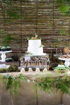 Enchanted Forest Dessert Table Set-Up