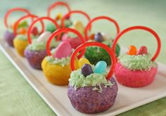 Easter Basket Cookies- i am so making these! cute and simple