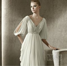 f8c0a7497ad90 Promotional Bell Sleeve Wedding Dress