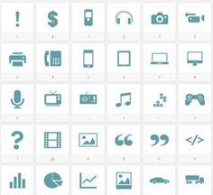 158 Free Web Font Icons by TenbyTwenty
