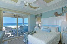 Deniz Mavisi Yatak Odası Dekorasyonu -Dekorasyon Fikirleri