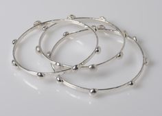 Donna V Jewelry - Sterling Bubble Bangles
