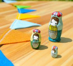 miniature hand painted matryoshka dolls by jesiiii on Etsy,
