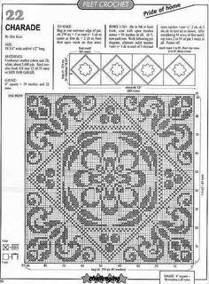 Crochet Dollies, Crochet Lace Edging, Crochet Borders, Crochet Cross, Crochet Squares, Crochet Home, Afghan Crochet Patterns, Crochet Geek, Crochet Bedspread