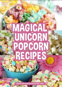 If you are planning a unicorn party or just love a magical treat, try one of these delicious unicorn popcorn recipes. #unicorns #unicornfood #unicornpopcorn #unicorn #unicornparty #unicornpartyideas