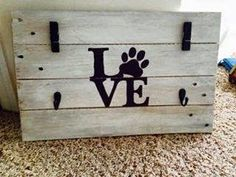 Adorable leash holder....Made from reclaimed pallet wood Sweet Sweet Simplicity