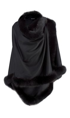 'ADRIENNE' black  cashmere wrap | Carlisle Fall 2013 | www.carlislecollection.com