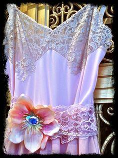 ballerina pink dusty pink & cream lace boho by mermaidmisskristin, $150.00