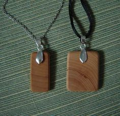 Make your own wood pendant necklace