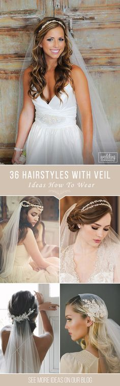 36 Wedding Hairstyles With Veil ❤ We picked up wedding hairstyles with veil for updos and half-down, bun, long and short hair special for you. It is an undisputed symbol of every bride. See more: http://www.weddingforward.com/wedding-hairstyles-with-veil/ #wedding #hairstyles