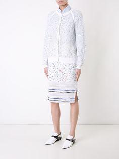 mesh detail knitted dress - Brown Magda Butrym eRdNjcI