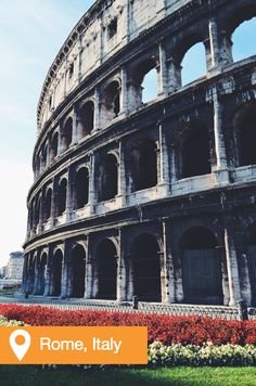 The Colosseum in Rome, #Italy is a must on your travel bucket list.