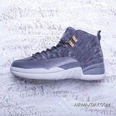 a5e6e99ede5 Air Jordan 12 Retro Dark Grey 130690-005 AJ12 Mens Basketball Shoes Dark  Grey Dark Grey-Wolf Grey Online