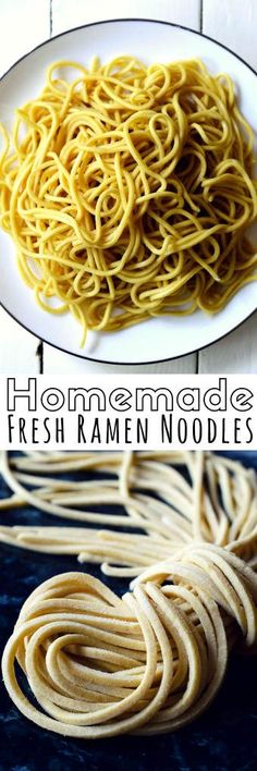 Forget about the packaged, dried ramen you get at the supermarket, fresh homemade vegan ramen is so much tastier, healthier and palm-oil free. Enjoy your fresh ramen in a delicious bowl of soup packed with your favorite fresh veggies. Ramen Recipes, Asian Recipes, Vegetarian Recipes, Cooking Recipes, Noodle Recipes, Cooking Pasta, Indonesian Recipes, Japanese Recipes, Orange Recipes
