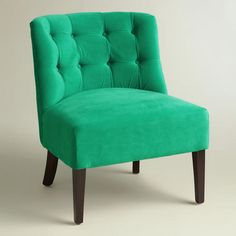 One of my favorite discoveries at WorldMarket.com: Emerald Green Lindsey Chair