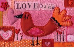 art quilt; Love Bird