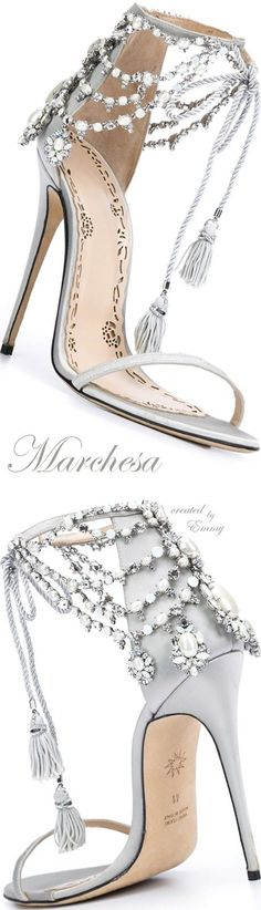 Brilliant Luxury ♦ Marchesa 'Marissa' sandals