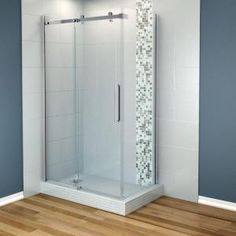 MAAX Halo 48 in. x 32 in. Corner Shower Enclosure Tempered Glass in Chrome-105947-900-084-100 at The Home Depot