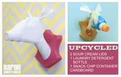 Embellishments Kids: Up Cycled Menagerie - DIY Faux Animal Taxidermy from Recyclables