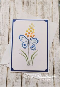 Butterfly Paper Embroidery cards