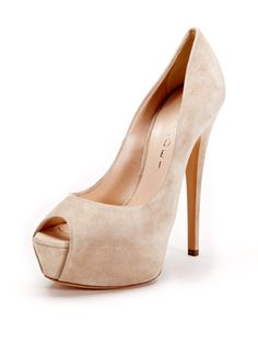 Suede Platform Pump from Shoe Guide: Pumps on Gilt