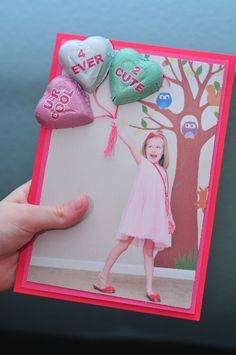 Cute DIY Valentine Candy Card (a twist on the lollypop ones we did last year!)