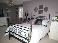 more purple/lilac bedrooms
