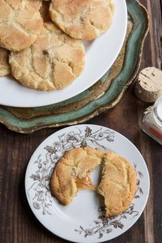 Traditional snickerdoodles taken to the next level with salted caramel! #cookies