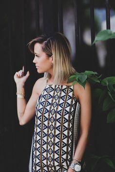 Printed Midi Dress - Styled Avenue