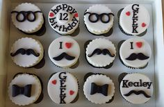 GEEK Cupcakes by LizzieQ Creations, via Flickr