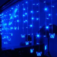 36.18$  Buy now - http://alixts.shopchina.info/go.php?t=32800055070 - 8M 192Leds Transparent Butterfly Curtain Light LED String Lights Christmas Wedding Holiday Party Decotation Lights 220V EU Plug  #buyonlinewebsite