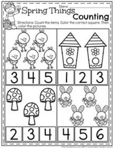 Spring Preschool Worksheets - Planning Playtime : FREE Preschool Counting Worksheets for Spring. Could you use some help at the end of the school year? Get these ready to go Spring Preschool Worksheets filled with fun activities and cute pictures. Printable Preschool Worksheets, Kindergarten Math Worksheets, Free Preschool, Preschool Learning, Worksheets For Kids, Preschool Activities, April Preschool, Matching Worksheets, Daycare Curriculum