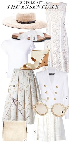 Check out some of our favorite looks from the Veuve Clicquot Polo Classic 2015. After all of this style inspiration, we went in search of items in the TSG network to help us round out our wardrobes for the summer….