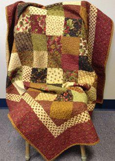 Shop sample  Fall Quilt  finished quilt by myreddoordesigns, $50.00