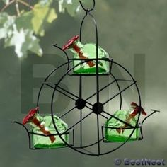 ferris wheel hummingbird feeder  | Parasol Ferris Wheel Hummingbird Feeder, Green, 10.5 oz. at BestNest ...