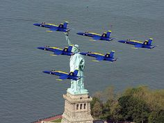 Happy Memorial Day ~ Blue Angels flying over the Statue of… | Flickr